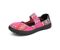 Women Summer Breathable Sandals Knit Platform Elastic Shoes
