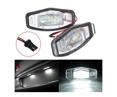 2x LED License Plate Light For Honda Civic Accord Odyssey Pilot Acura TL TSX MDX