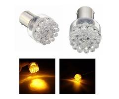 2pcs BAU15S 1156 12V DC Amber Turn Signal Light Lamp Bulb For Motor Bike Auto Car Vehicles Boats RVs