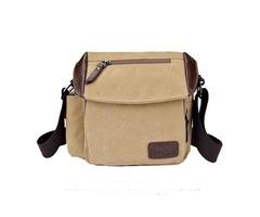 Men Canvas Retro Crossboby Bag Multi Pocket Capacity Shoulder Bag