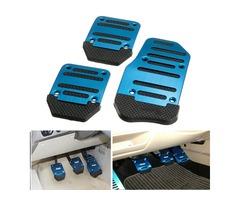 1 Set 3Pcs Non-slip Footrests Aluminum Alloy Car Foot Treadle Pedals Cover Pad
