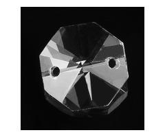 1X 5X 10X 14MM Chandelier Crystal Glass Octagon Bead Pendant Lamp Prisms Part Decoration