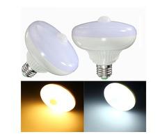 E27 12W 24 SMD 5630 Auto PIR Motion Sensor LED Infrared Energy Saving Light Bulb AC85-265V