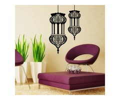 Halloween Islamic Lantern Wall Stickers Muslim Pattern  Art Wall Decals Home Mural Sofa Wall Decor