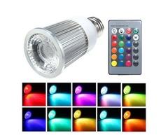 E27 5W LED RGB Multicolor Light Bulb With 28 Key Wireless Remote AC 85-265V