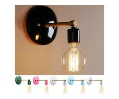 Loft Industrial Retro Vintage Sconce Wall Lamp Light Bulb Holder Bedroom Fixture