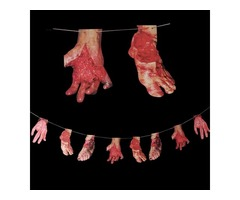 Halloween Bloody Garland Limb Party Decoration Horrid Scare Scene