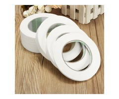 50m White Masking Tape Polyimide Adhesive Tapes 12/20/50mm