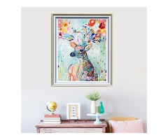 5D DIY Diamond Oil Painting Deer Embroidery Mosaic Stitch Craft Cross Stitching Home Decor