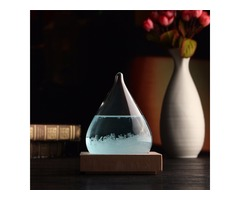Weather Forecast Crystal Water Shape Bottle Home Decor Christmas Gift