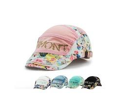 Unisex Cotton Flower Printed Washed Beret Hat Buckle Adjustable Paper Boy Cabbie Golf Gentleman Cap