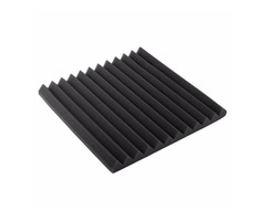 30x30x2.5cm Black Acoustic Soundproof Foam Sound Absorbing Waved Sponge