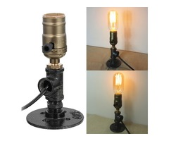 Adjustable Vintage Industrial E27 Socket Table Bedside Desk Lamp Holder