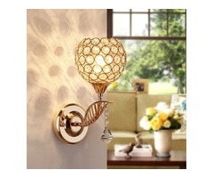 E27 Modern Crystal Wall Light Living Room Corridor Balcony Lamp 220V
