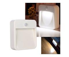 Battery Operated PIR Motion Sensor LED Wireless Night Light Security Wall Lamp
