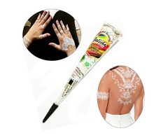 Natural White Henna Paste Cone Temporary Tattoo Body Art Tool 30g