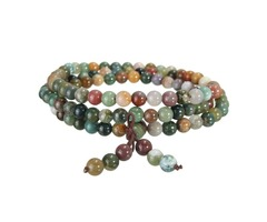 Tibetan Buddhist Agate Stone 108 Prayer Beads Mala Bracelet
