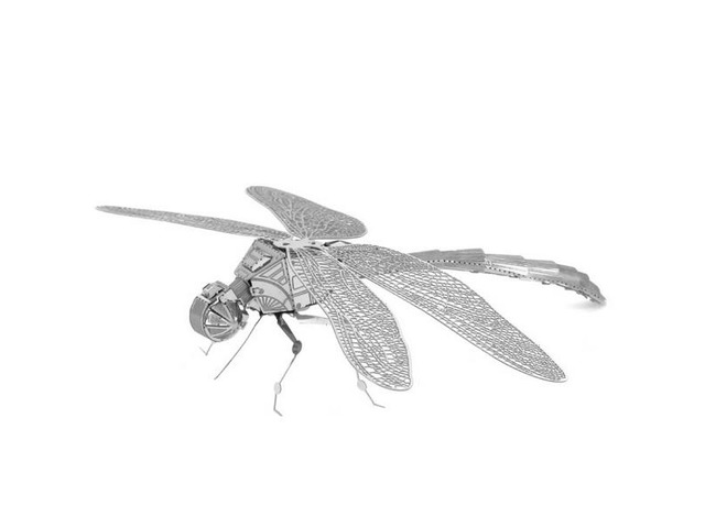 Aipin DIY 3D Puzzle Stainless Steel Model Dragonfly Silver Color | FreeAds.info
