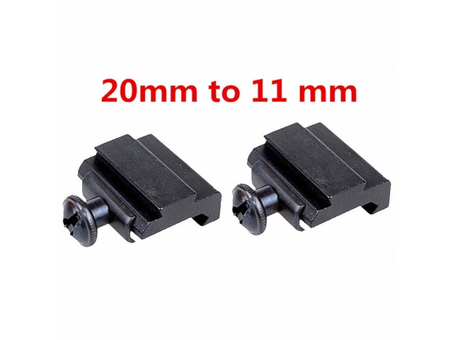 2pcs 20mm to 11mm Adapter Base Coverter Mount For Weaver Dovetail Rail | FreeAds.info