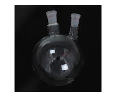 2000ml 24/40 Joints 2 Necked Round Bottom Glass Flask Chemistry Boiling Bottle