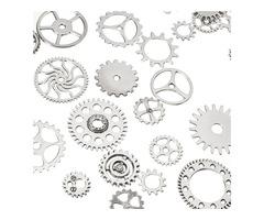 60-70Pcs Steampunk Altered Art Craft Cyberpunk Gear Wheels Decoration Part