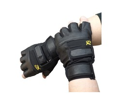 Unisex Tactical Half Finger Bike Gloves Slip Resistant Sports Fitness Gloves Black For Cycling Ridin