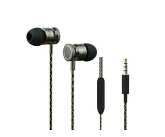 3.5mm In-Ear Earphones Super Clear Bass Metal Headphone For MP3 MP4 Iphone Samsung Xiaomi Tablet