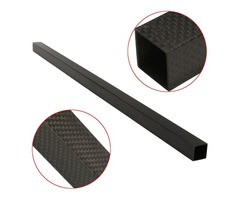 20x20x600mm 3K Black Carbon Fiber Square Tube Pipe