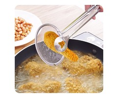 Honana Kitchen Multi-Function Strainers With Clamp Stainless Steel Food Clip Sifter Colanders