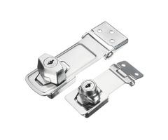 Locking Cylinder HASP Staple Garage Gate Door Lock Padlock with 2 Keys 75/105mm