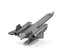 Aipin DIY 3D Puzzle Stainless Steel Model Kits Lockheed SR-71 Silver Color