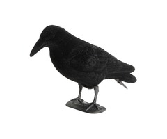 Black Flocked Crow Hallowmas Decorations Hunting Shooting Decoy Deterrent Repeller Garden Lawn Decor