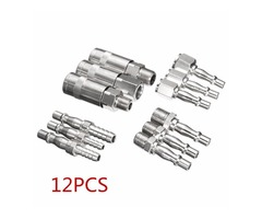 12pcs 1/4 Inch 3/8 Inch BSP Air Line Hose Compressor Fitting Connector Quick Release Coupler