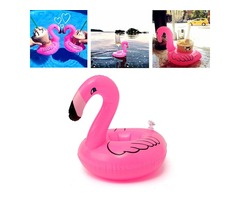 5PCS Inflatable Flamingo Drink Can Holder Party Pool Home Decor Kids Toy