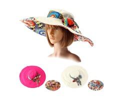 Women Summer Foldable Sun Hat Anti-UV Wide Large Brim Outdoor Beach Gardening Visor Cap