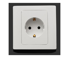 16A Wall Charger Electrical Panel EU German Single Plug Socket Power Supply