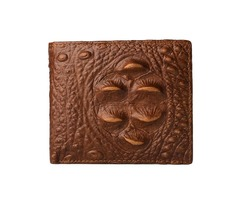 Men Crocodile Pattern Genuine Leather Short Wallet Coin Bag