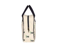 EcoRight Reusable Canvas Lunch Tote Bag with Bottle Holder Zipper for Travel shipping business washa