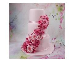 3pcs Rose Flower Petal Cutter Fondant Cake Chocolate Sugarcraft Mold Decor Tool