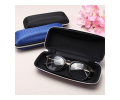 Zipper Hook Glasses Box Compression Resistance Plastic Sunglasses Travel Carry Case Bag