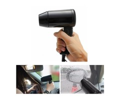 220W 12V Mini Foldable Car Heat Blower Defroster Adjustable Hair Dryer with 2 Speed Control