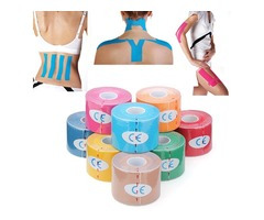 3pcs Light Blue Kinesiology Tape Sports Muscles Care Therapeutic Bandage