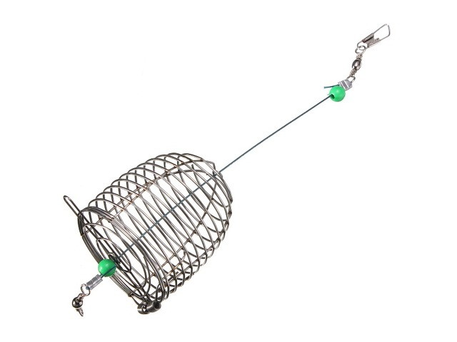 ZANLURE 10g Stainless Steel Wire Fishing Bait Lure Cage Fishing Trap Basket Feeder Holder | FreeAds.info