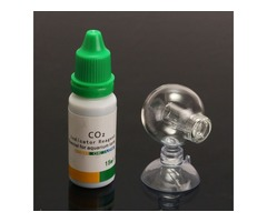 Aquarium Carbon Dioxide CO2 Monitor PH Indicator Glass Drop Ball Checker Tester
