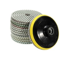 15pcs 4 Inch Polishing Pads Set 50-6000 Grit Wet Dry Diamond Polishing Pads with Self-Adhesive Disc