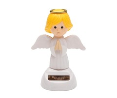 Solar Powered Bobble Head Moving Wings Dancing Angel