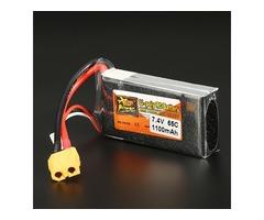 ZOP Power 7.4V 1100mAh 65C 2S Lipo Battery XT60 Plug