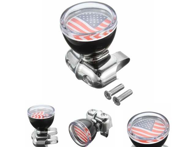 USA Flag Badge Steel Ring Wheel Spinner Suicide Power Knob Handle Universal For Car Truck | FreeAds.info