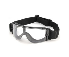A Set 3 Lens Anti Shock Bulletproof CS Goggles Outdoor Shooting Anti-UV Glasses
