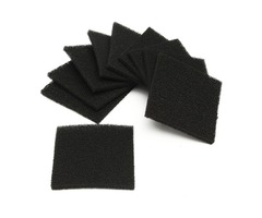 10pcs Black Square Activated Carbon Foam Sponge Air Filter Pads Set For Smoke Absorber
